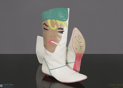 2013: Elsie donated these funky Irregular Choice boots in a size 38.