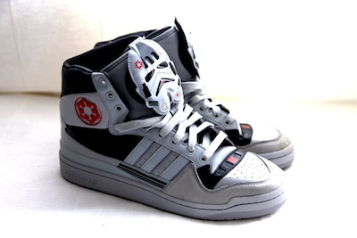 2012: he donated limited edition Star Wars addidas in a size 10.